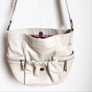Stone Mountain leather purse cream.